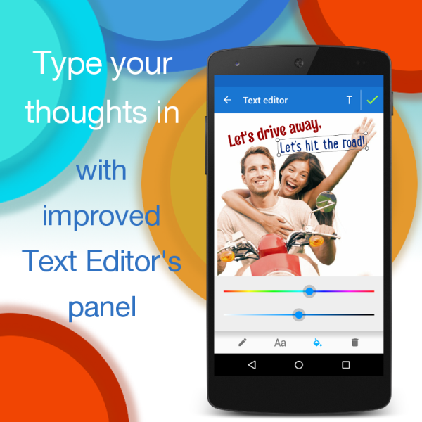 Improved Text Editor in Photo Lab for Android