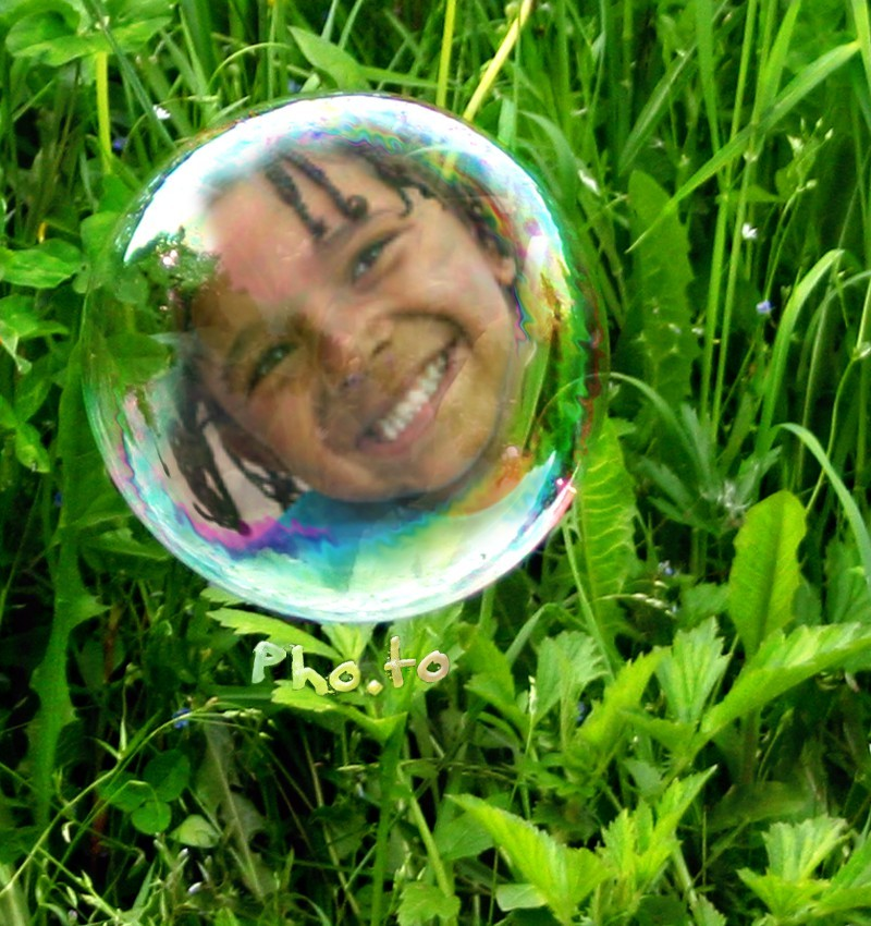 Your face in a bubble photo effect