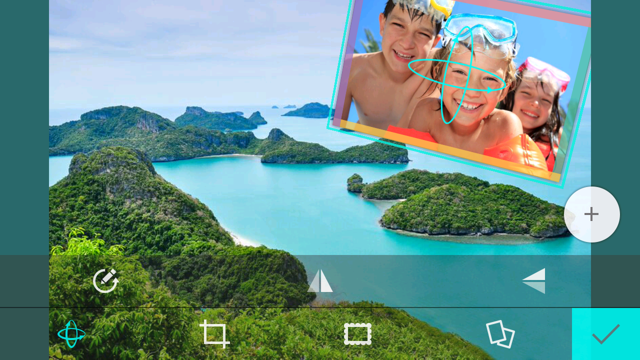 Rotating a selfie photo in 3D perspective