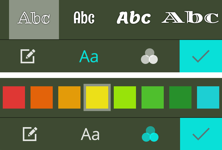 Cool fonts and colors