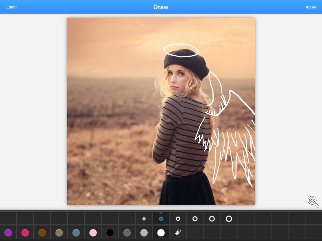 Draw on photo feature