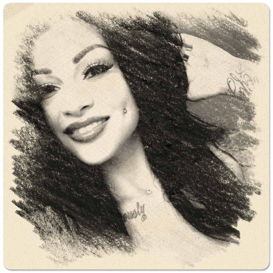 A beautiful selfie turned to a charcoal sketch with online converter