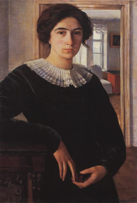 An autoportrait of famous Russian and Ukrainian artist Zinaida Serebryakova