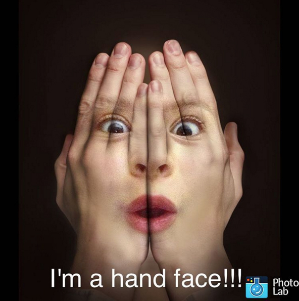 hands over face effect