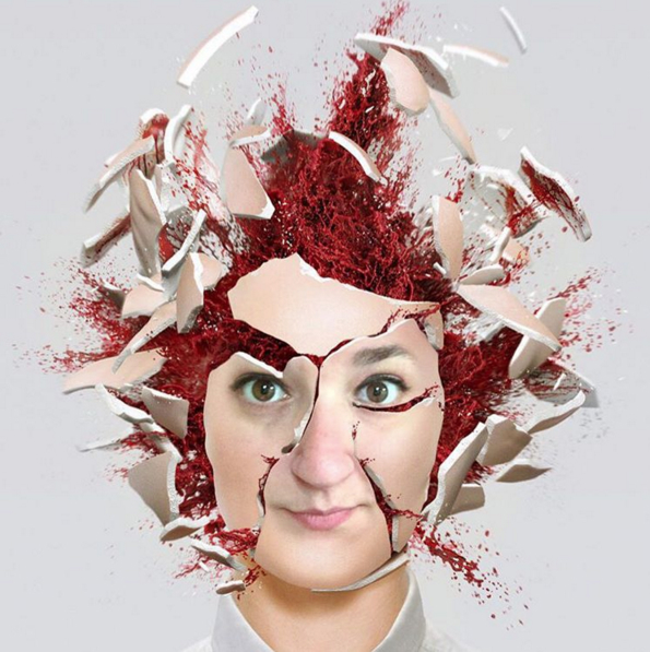 head explosion photo effect