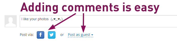 Adding comments is easy