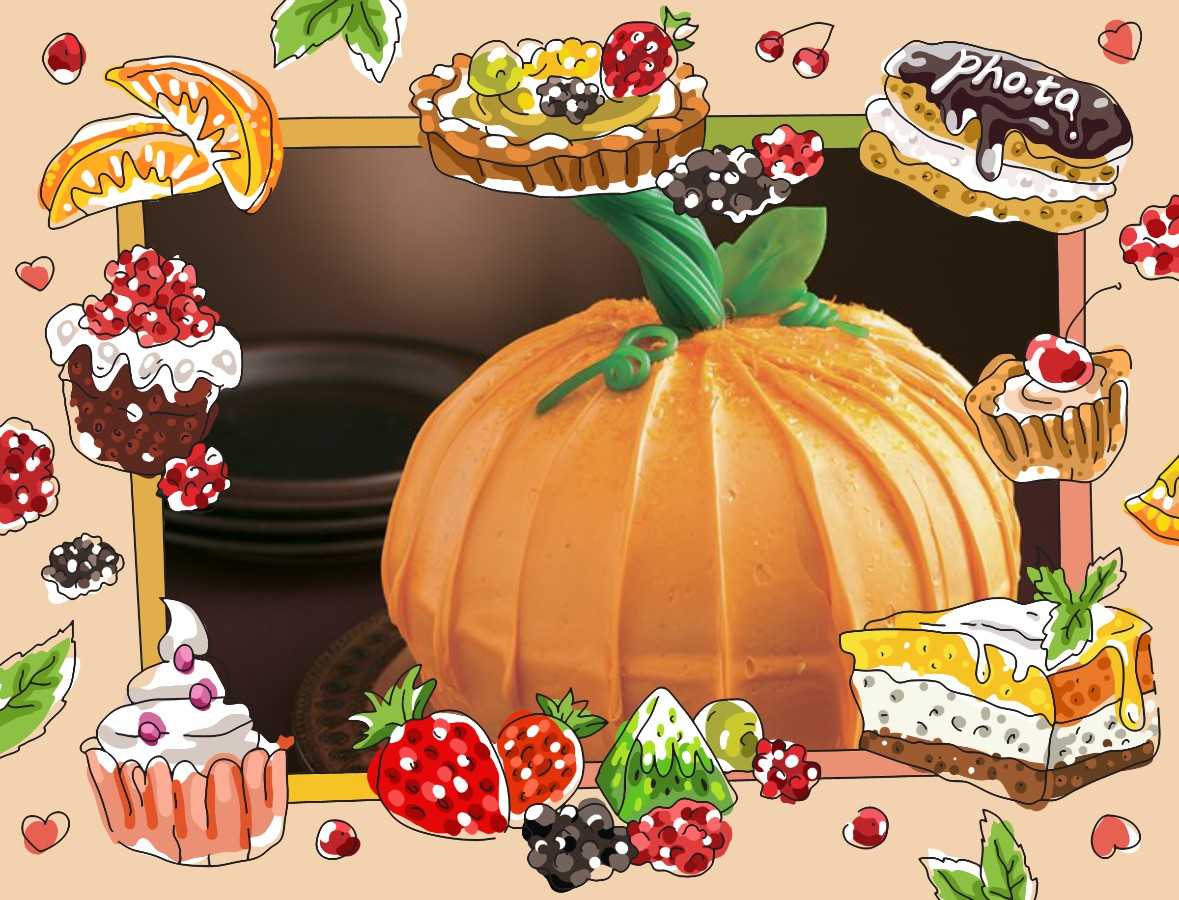 Make a photo recipe card of your best Thanksgiving cake and share it with guests