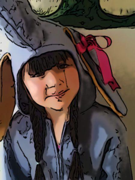 Photo of a child cartoonized online