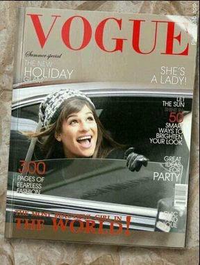 Get on the fake magazine cover Vogue with this unusual photo frame
