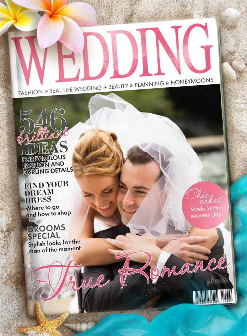 Get on a Wedding mag cover instantly!