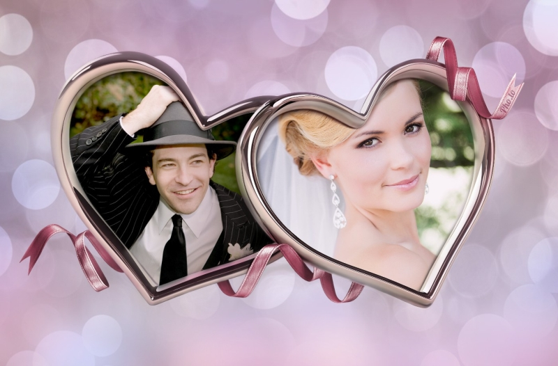 Wedding double-photo frame