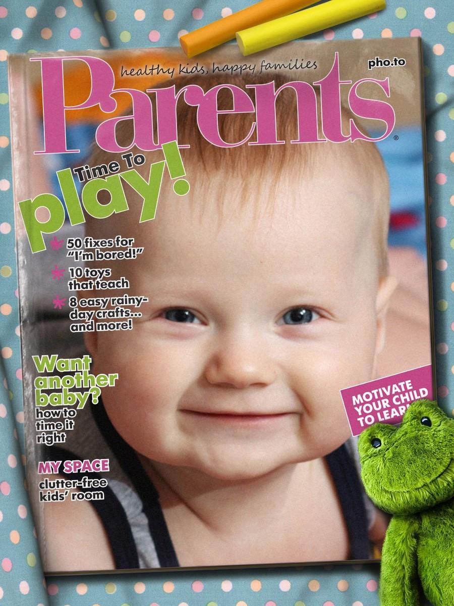 Fake magazine cover of the Parents magazine