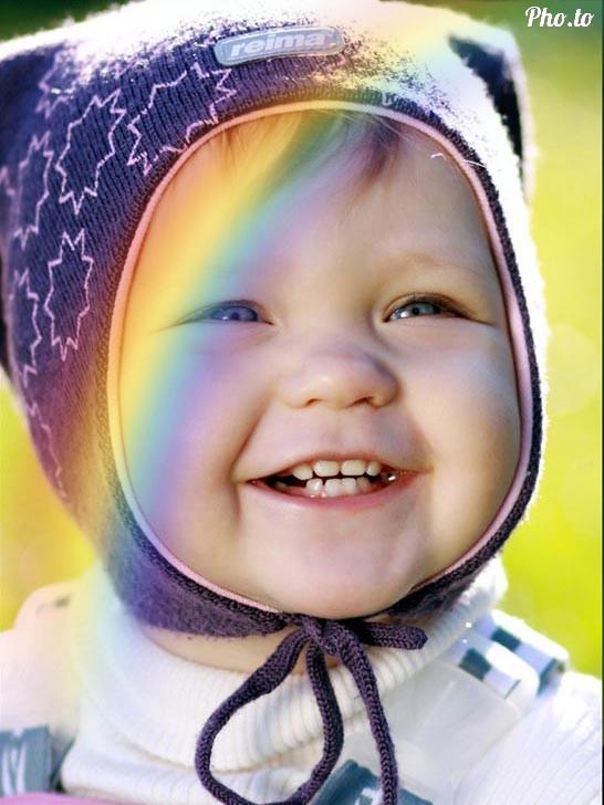 Add rainbow to photos