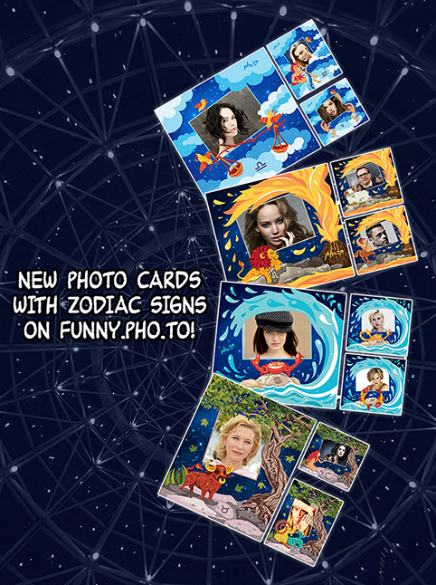 New free photo frames with Zodiac signs by an online photo editor Funny.Pho.to